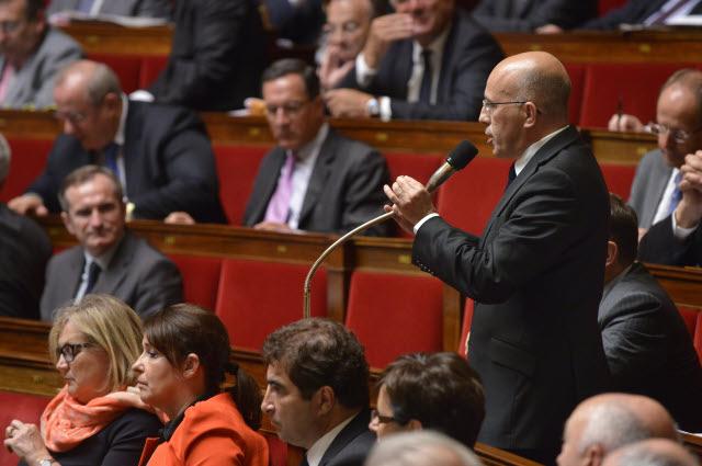 Eric Ciotti à l'Assemblée nationale lors d'une séance de questions au Gouvernement