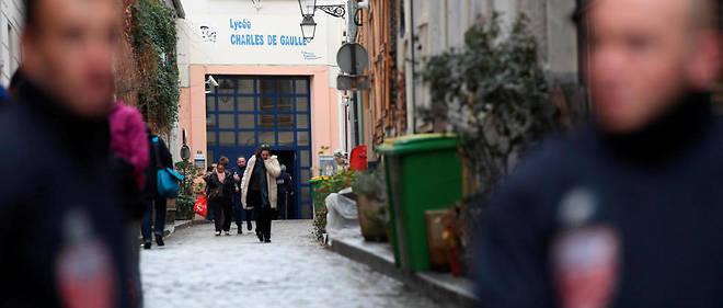 """Un lycéen  a été """"agressé à proximité de son établissement rue Ligner"""" à Paris ©AFP/ALAIN JOCARD"""